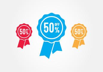 50% Off Flat Ribbons