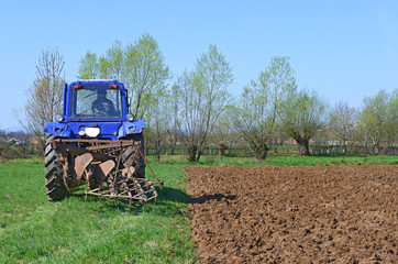 Tractor on field work