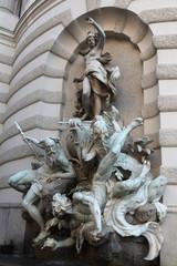 Fountain the Power of the Sea in Vienna, Austria.