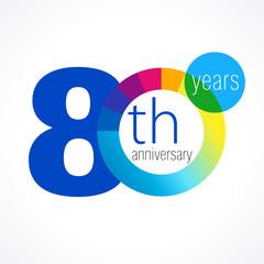 80 anniversary chart logo