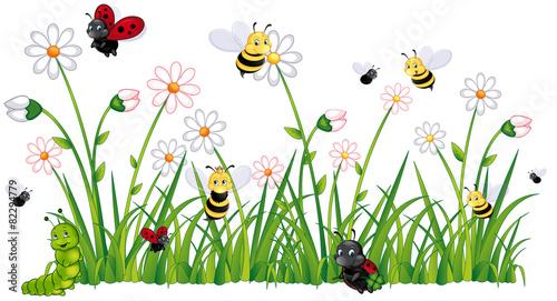 gamesageddon  insekten auf einer blumenwiese