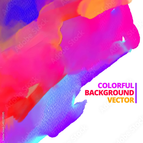 Fotobehang Vormen vector background of ink color paint design