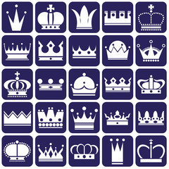 Crown icons on blue