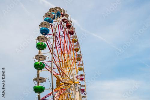 Fotobehang Amusementspark Ausschnitt von einem Riesenrad