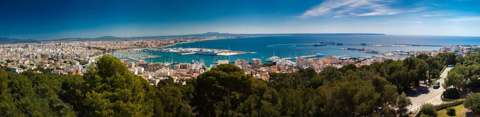 aerial panoramic view of Palma de Mallorca