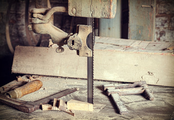 Old carpentry tools.