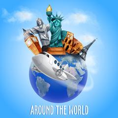 around the world plane