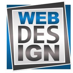 Web Design Blue Grey Square