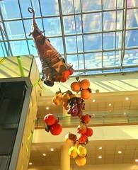 Glass ceiling decoration