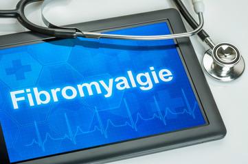 Tablet mit der Diagnose Fibromyalgie auf dem Display