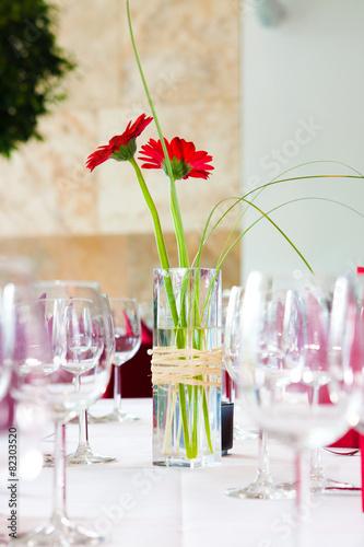 Leinwanddruck Bild Tisch Deko Veranstaltung