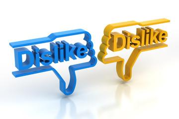 Pair of dislike symbols