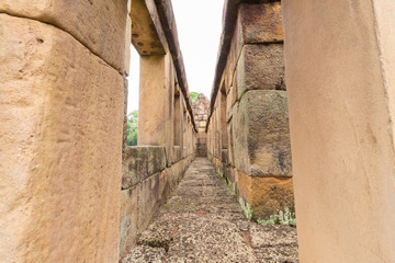 pathway at The gallery of Mueang Tam Stone Castle