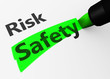 Safety Vs Risk Choice Concept - 82307154