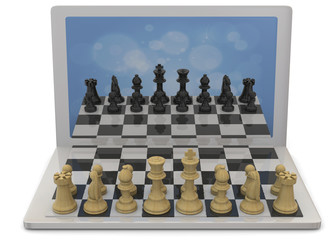 Playing Chess against the Computer - 3D