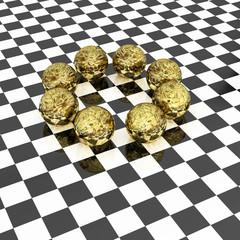 Goldkugel - 3d Render