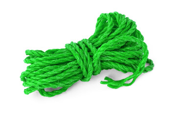 The green rope in the coil