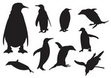 Penguin Silhouette Set