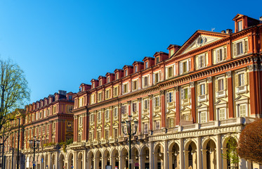 Historic buildings on Piazza Statuto in Turin - Italy