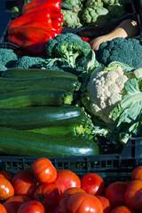 Detalle de Verduras en el Mercado