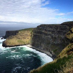 Dramatic sea view with high cliffs