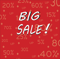sale red shopping  print