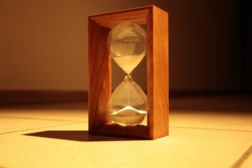 Sandglass with shadow