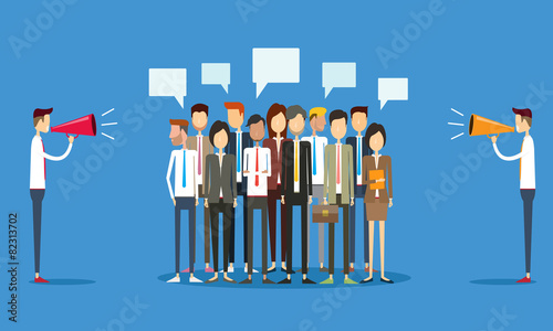 group people business and marketing communication concept