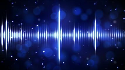 blue digital equalizer loopable background