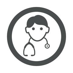 Icono redondo doctor gris