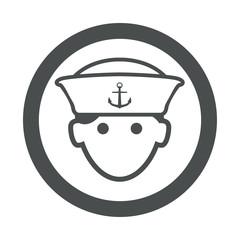 Icono redondo marinero gris