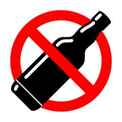 Icono prohibido alcohol