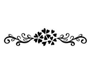 Vector of abstract artistic floral ornament