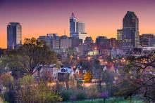"""Постер, картина, фотообои """"Raleigh, North Carolina, USA Skyline"""""""
