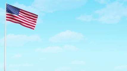 USA American flag video