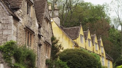 MS TU Old houses / Castle Combe, Cotswolds, Wiltshire, UK