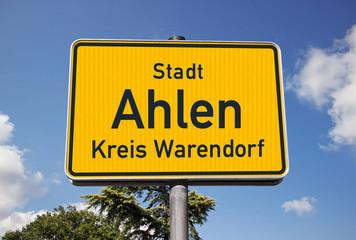 Ortsschild Stadt Ahlen