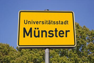 Ortsschild Unistadt Münster