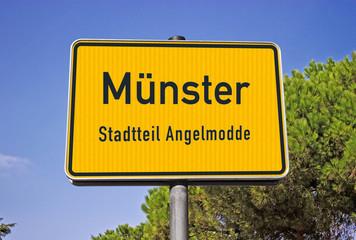 Ortsschild Münster Angelmodde