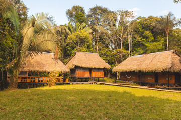 Lodge in the middle of the amazonian jungle, Cuyabeno Wildlife R