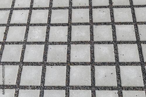 Leinwanddruck Bild Wasserdurchlässiges Betonpflaster