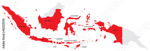 Map of Indonesia with Provinces - 82321550