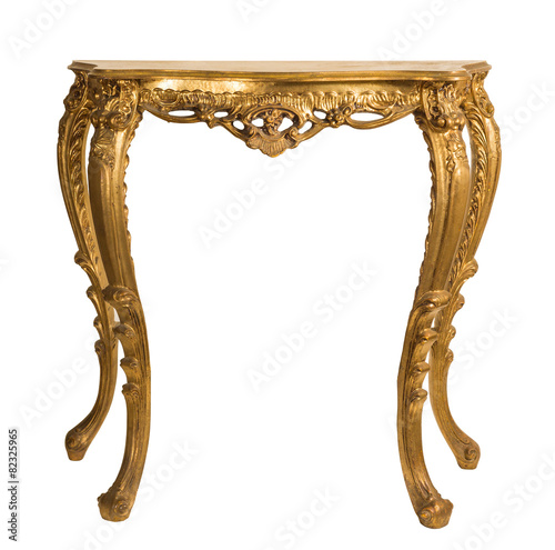 alter antiker goldener tisch, wandkonsole barock - 82325965