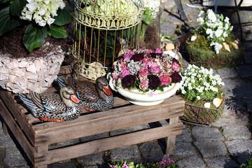 Blumendekoration in Floristenladen