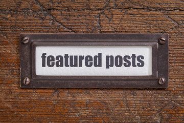 featured posts  label