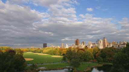 time lapse movie of clouds flying past central park in new york city