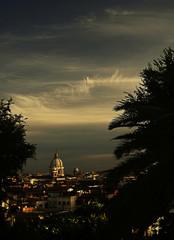Anochece en Roma