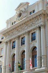 Historic neoclassical building that houses the Secretary of Just