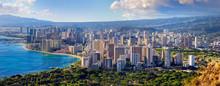 "Постер, картина, фотообои ""Spectacular view of Honolulu city, Oahu"""