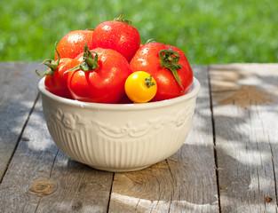 Fresh ripe colorful tomatoes